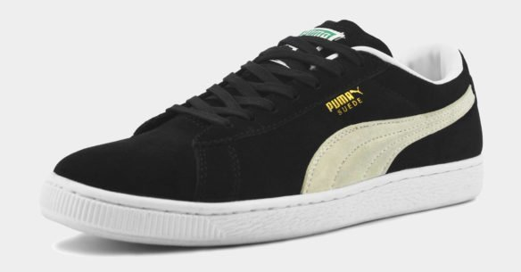 Puma Suede Classic черные с белым