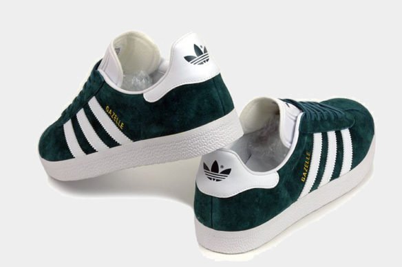 Фото Adidas Gazelle темно-зеленые - 1