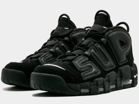 Фото Supreme x Nike Air More Uptempo Suptempo черные - 1